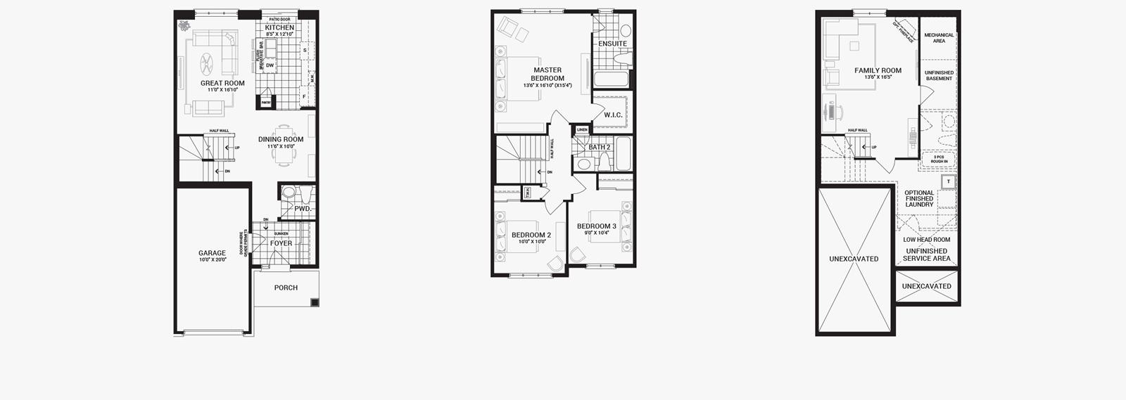 Townhome Floor Plan Great 3 Redmond Townhomes Ichijo