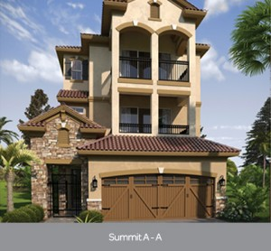 Summit A model at Lakeside at Toscana