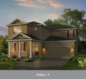 Harmony Florida Community. New homes by Park Square Homes.  Abbey model