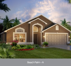 Beach Palm model at Watersong Resort in Orlando by Park Square Homes
