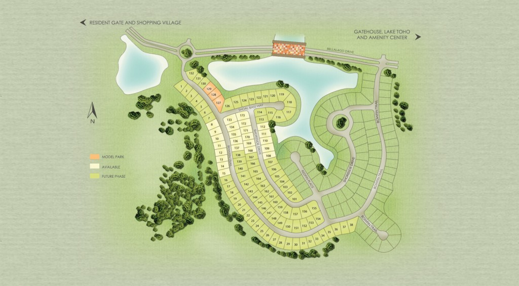 Edgewater at Bellalago site map
