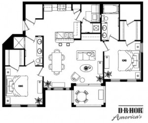 The Aruba model floorplan at Cane Island by DR Horton