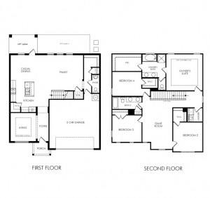 Cumberland floor plan at Lake Preserve in Orlando