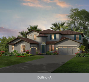 Delfino at Edgewater at Bellalago new construction homes Orlando