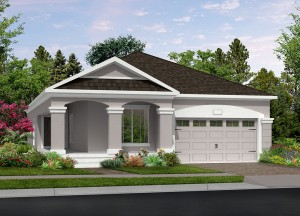 Harmony Florida Community. New homes by Lifestyle Homes.  Tahitian model