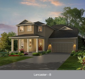 Harmony Florida Community. New homes by Park Square Homes.  Lancaster model