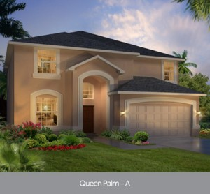 Queen Palm model at Watersong Resort in Orlando by Park Square Homes