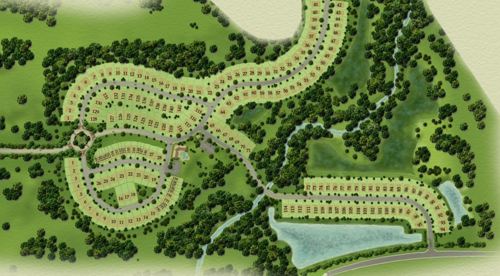 Site plan Summerbrooke in Mount Dora newhomes for sale