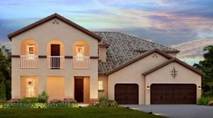 Seville model Parkside Dr Phillips.New luxury homes near Disney by Meritage Homes.