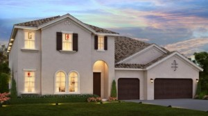 Vizcaya model Parkside Dr Phillips.New luxury homes near Disney by Meritage Homes.