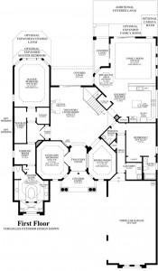Dalenna model floorplan in Casabella at Windermere