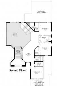 Dalenna model floorplan 2 in Casabella at Windermere