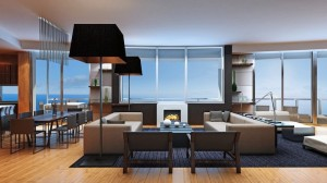Oceanfront luxury condos at Porsche Design Tower in Sunny Isles Beach Near Miami in South Florida