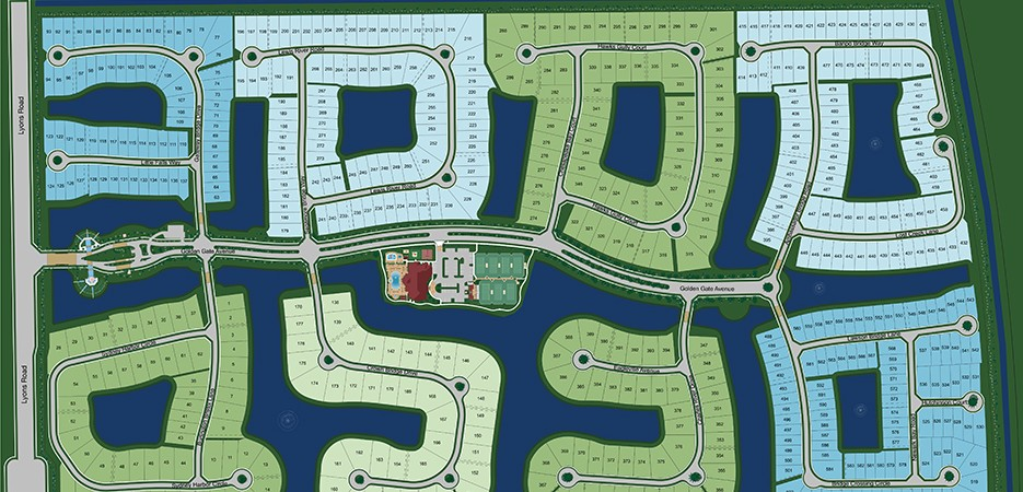 The Bridges in Boca Raton Site Plan