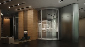 Luxury oceanfront condos at Porsche Design Tower in Sunny Isles Beach Near Miami in South Florida.