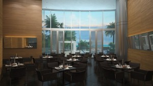 Seanfront luxury condos at Porsche Design Tower in Sunny Isles Beach Near Miami in South Florida