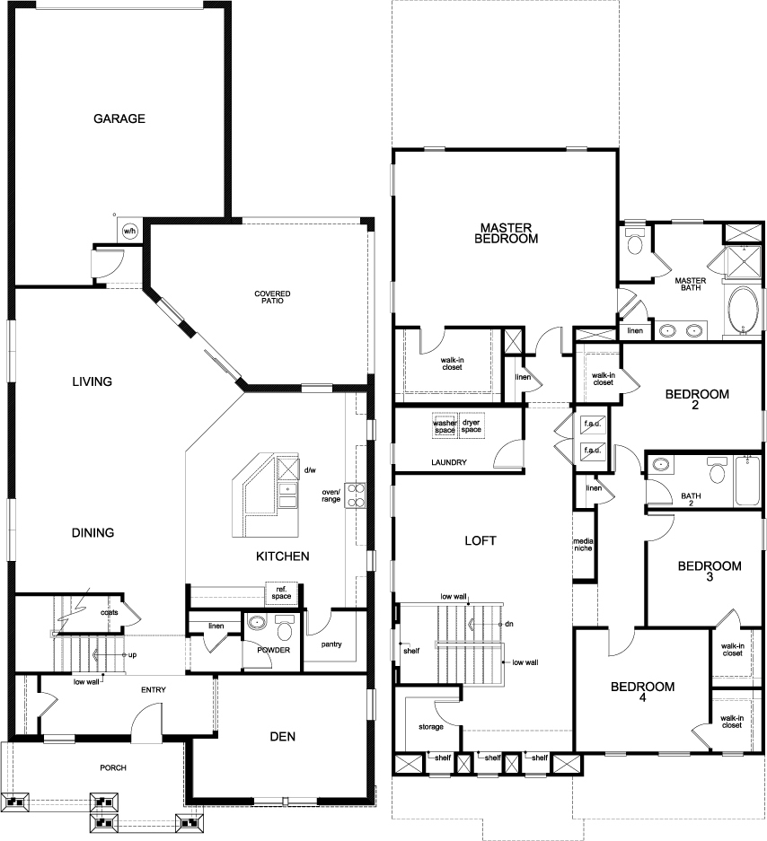 Kb homes floor plans paradise pointe by kb home a top for Garden home floor plans