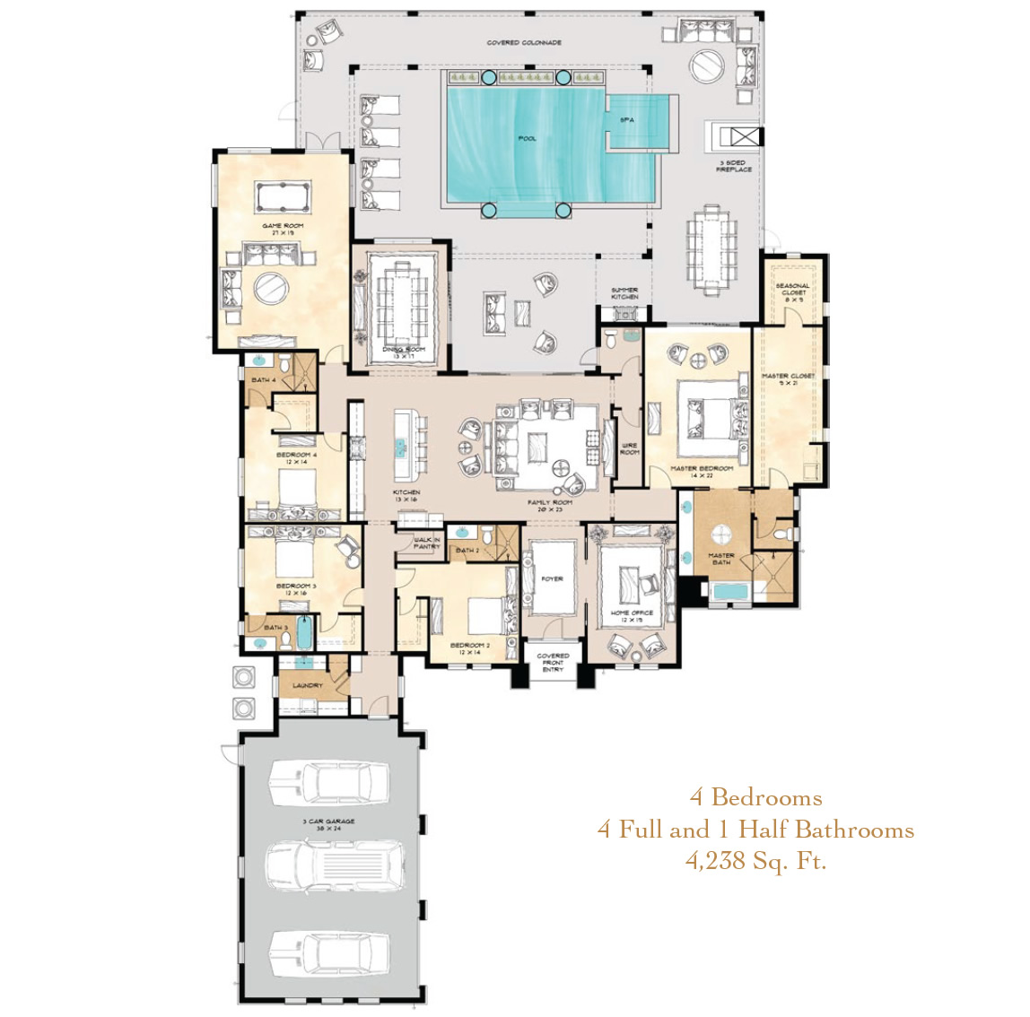Lake nona golf and country club for Lake floor plans