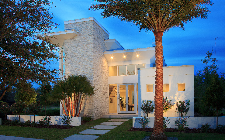 Lake nona golf and country club new luxury homes on the for Florida modern homes