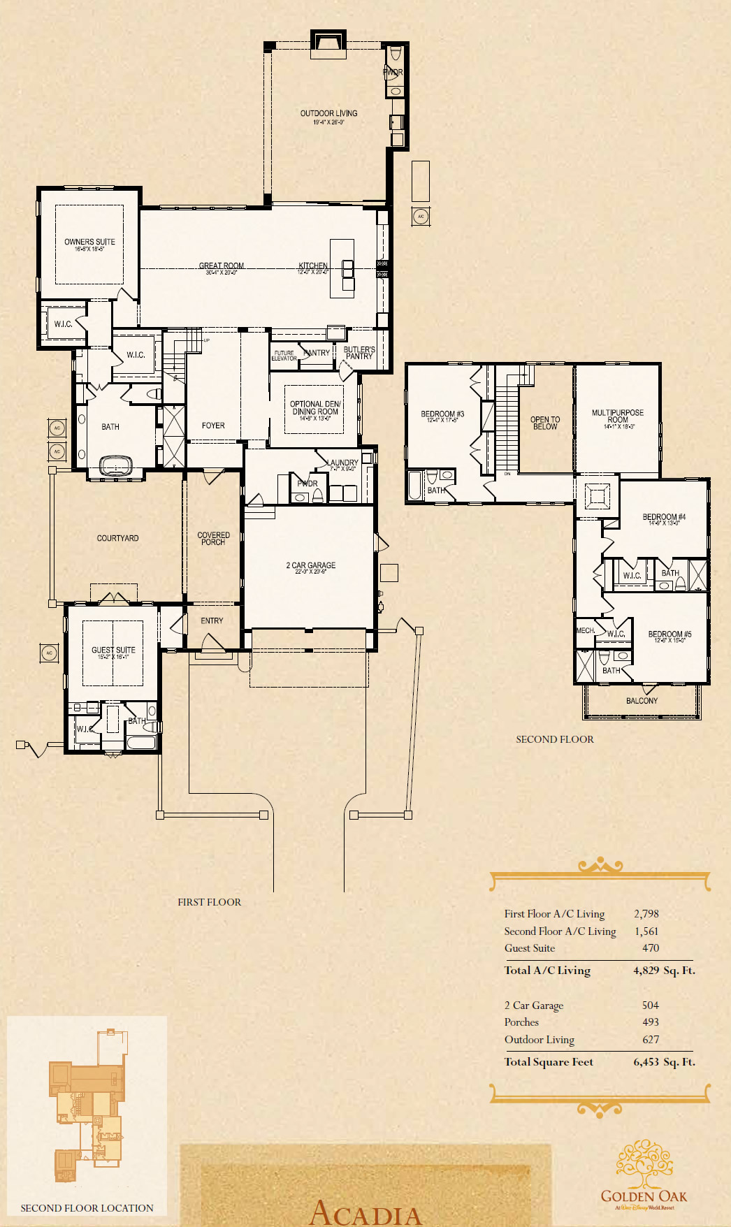Disney golden oak luxury new homes in lake buena vistanew for Gt issa floor plans