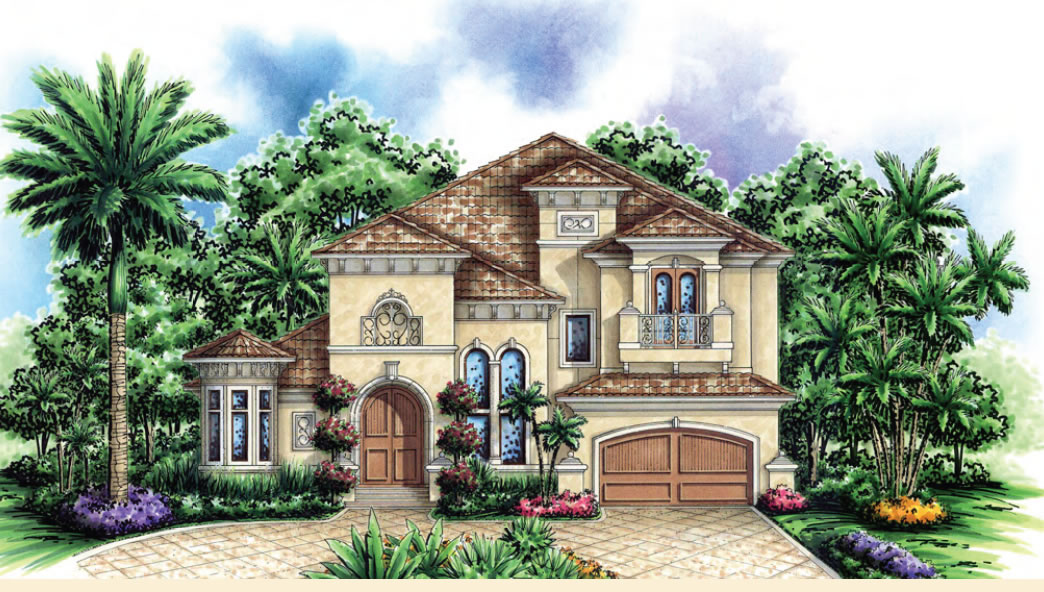 Elegant Aurora Model Lakefront Luxury Home At SUmmerlake In Winter Garden