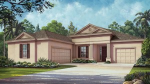 Caldwell model at Overlook at Hamlin in Winter Garden, waterfront luxury homes in Orlando