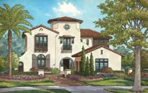 Camille model by ISSA homes. Luxury homes Disney Golden Oak