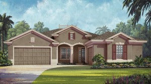 Courtland model at Overlook at Hamlin in Winter Garden, waterfront luxury homes in Orlando