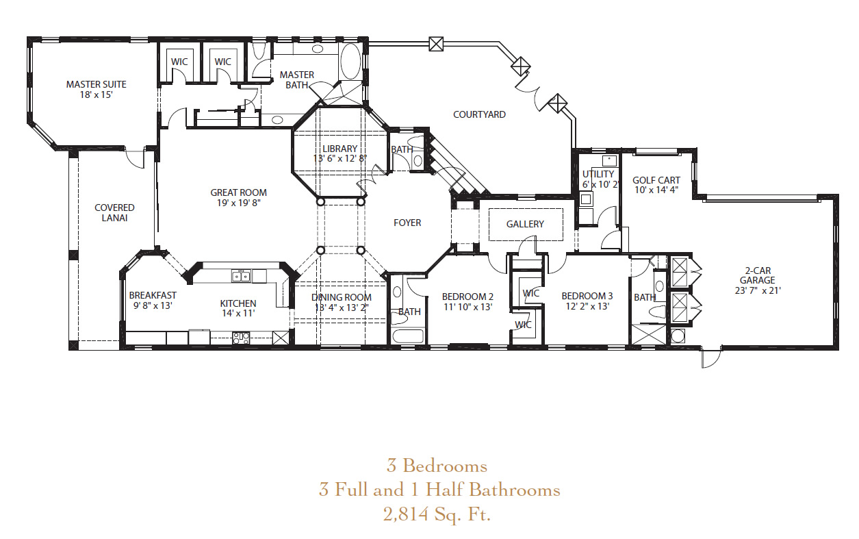 Floor plans golf course homes home design and style for Golf course house plans