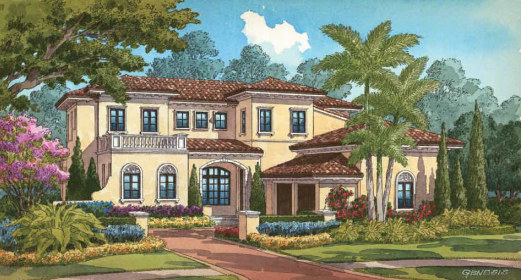 Golden oak model homes