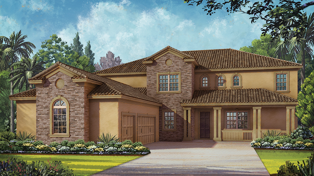 Perfect Garisson Model. New Homes In Winter Garden At Overlook At Hamlin