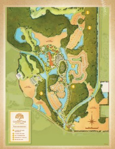 SIte plan of Golde Oak in Lake Buena Vista