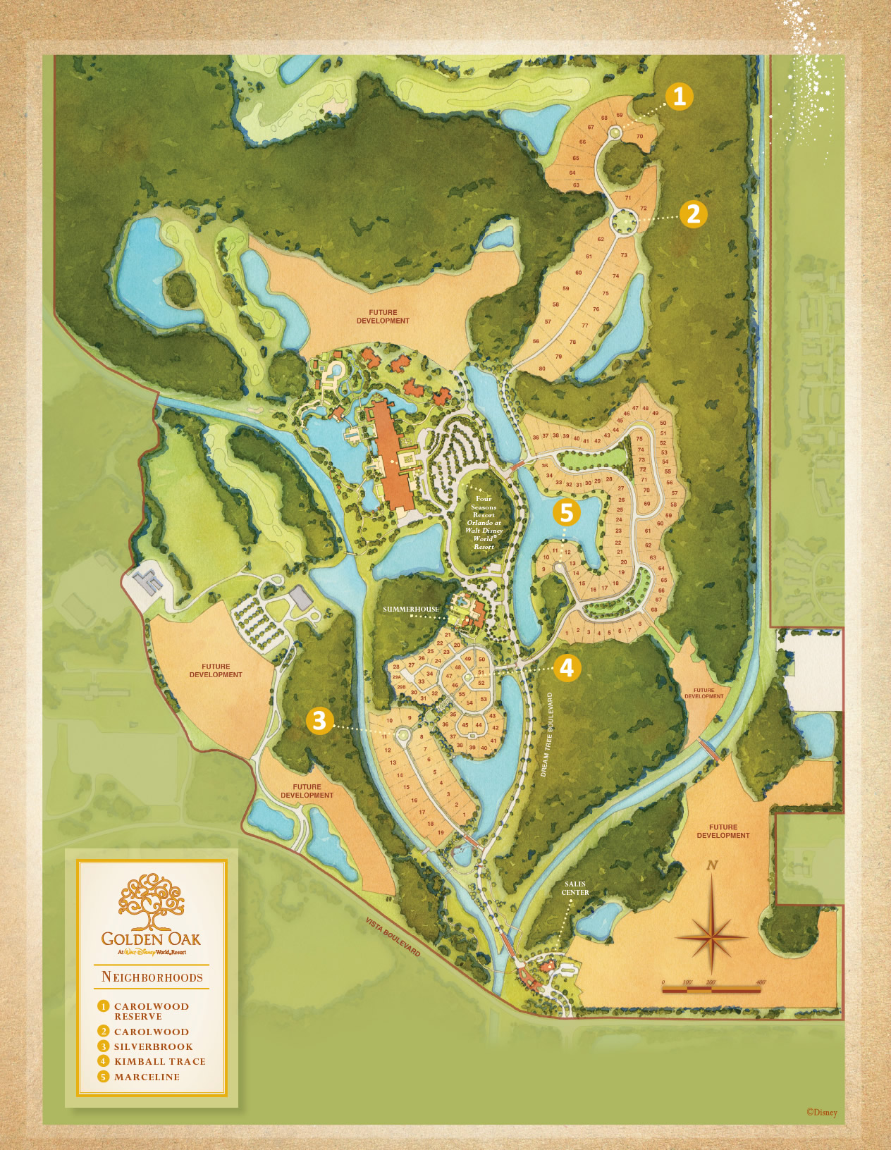 Disney golden oak luxury new homes in lake buena vistanew for Lake plan