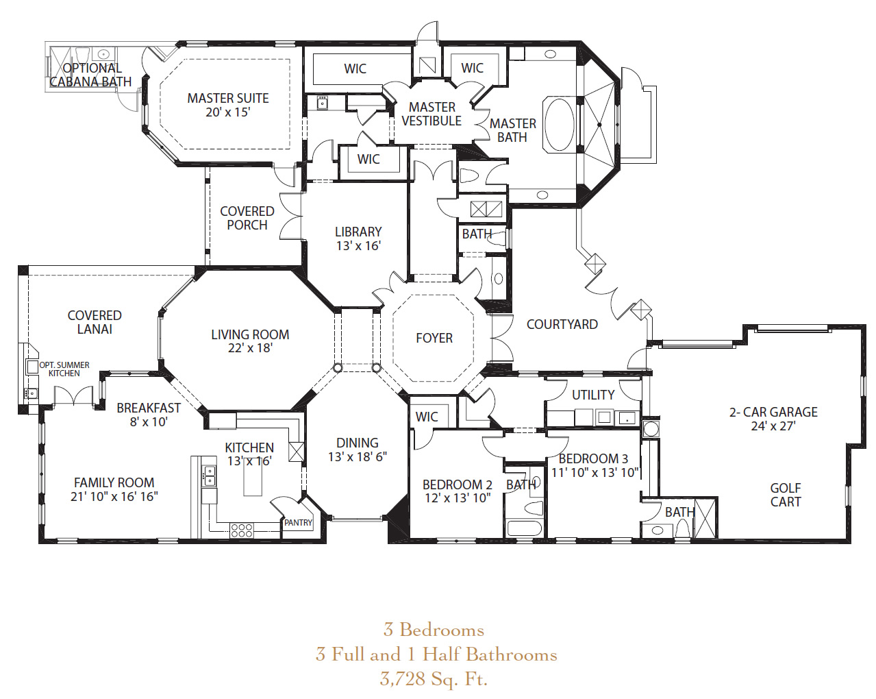 Luxury lake home floor plans escortsea for Luxury lake house plans