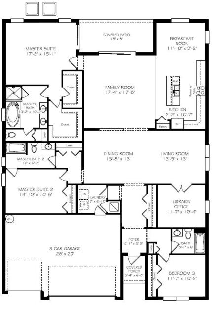 Wyndham lakes new homes in davenport by lennarnew build homes for Two story living room house plans
