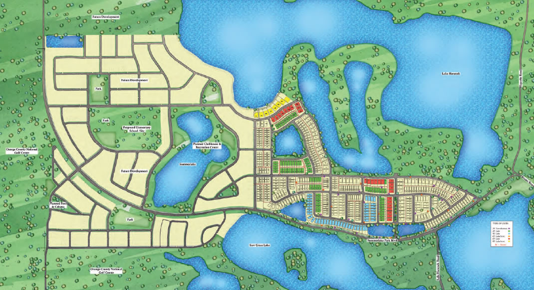 Summerlake in Winter Garden is a new community within Four Corners