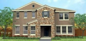 Glendale model. New construction vacation homes in Kissimmee, Orlando at Trafalgar Village Resort