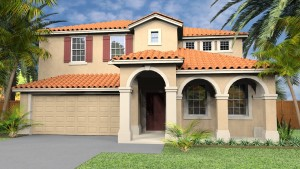 Seville model. New construction vacation homes in Kissimmee, Orlando at Trafalgar Village Resort