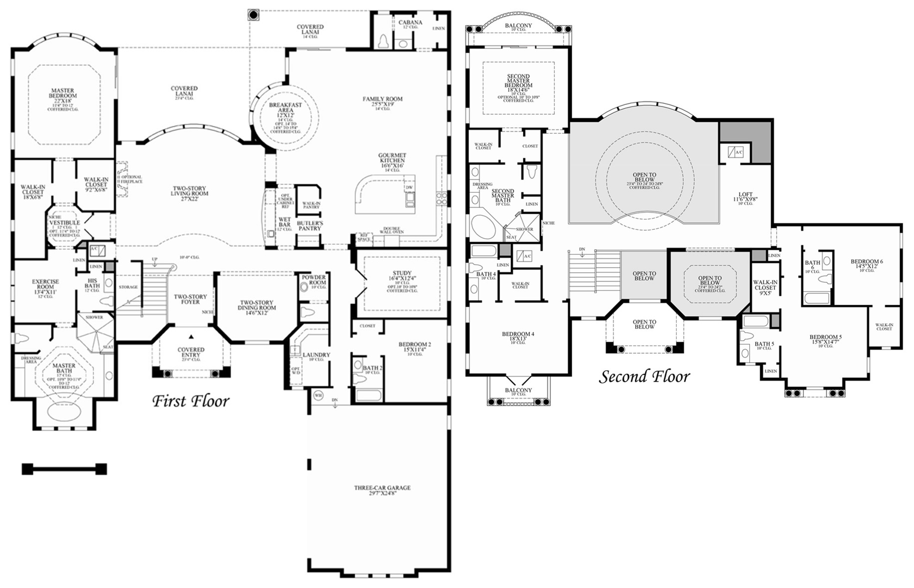 View floor plan. Bellaria in Windermere is a new community of luxury homes in Orlando