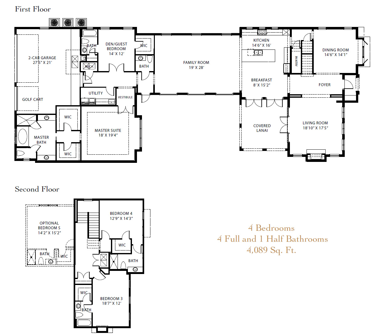 Lake nona golf and country club new luxury homes on the for Lake home floor plans