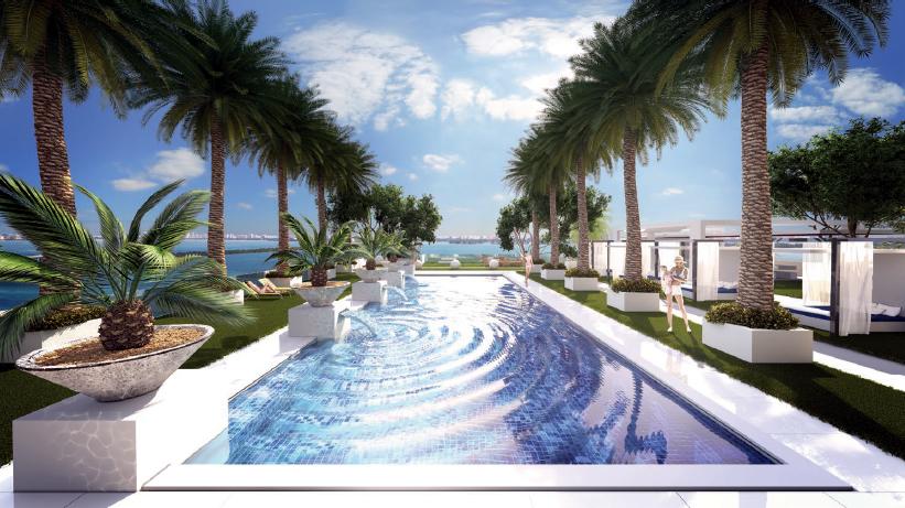 Bay house luxury condos miami pool cabanas new build homesnew build homes for Miami swimming pool contractors