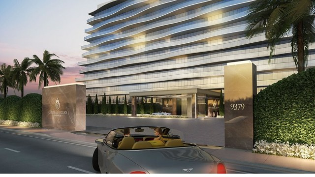 Chateau Ocean luxury condo residences on the oceanfront in Surfside Miami