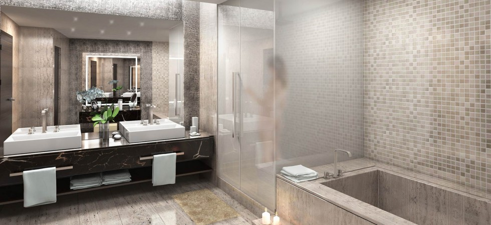 Echo Aventura Luxury Condos Bathroom New Build Homesnew