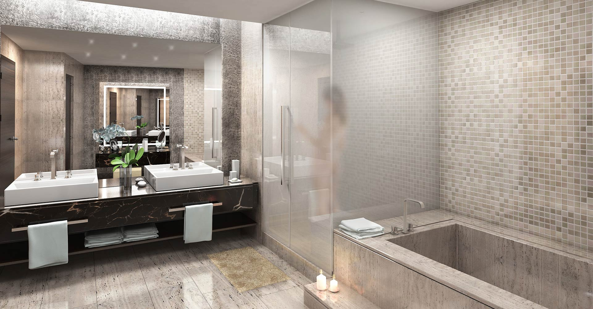 echo aventura luxury condos bathroom   new build homes