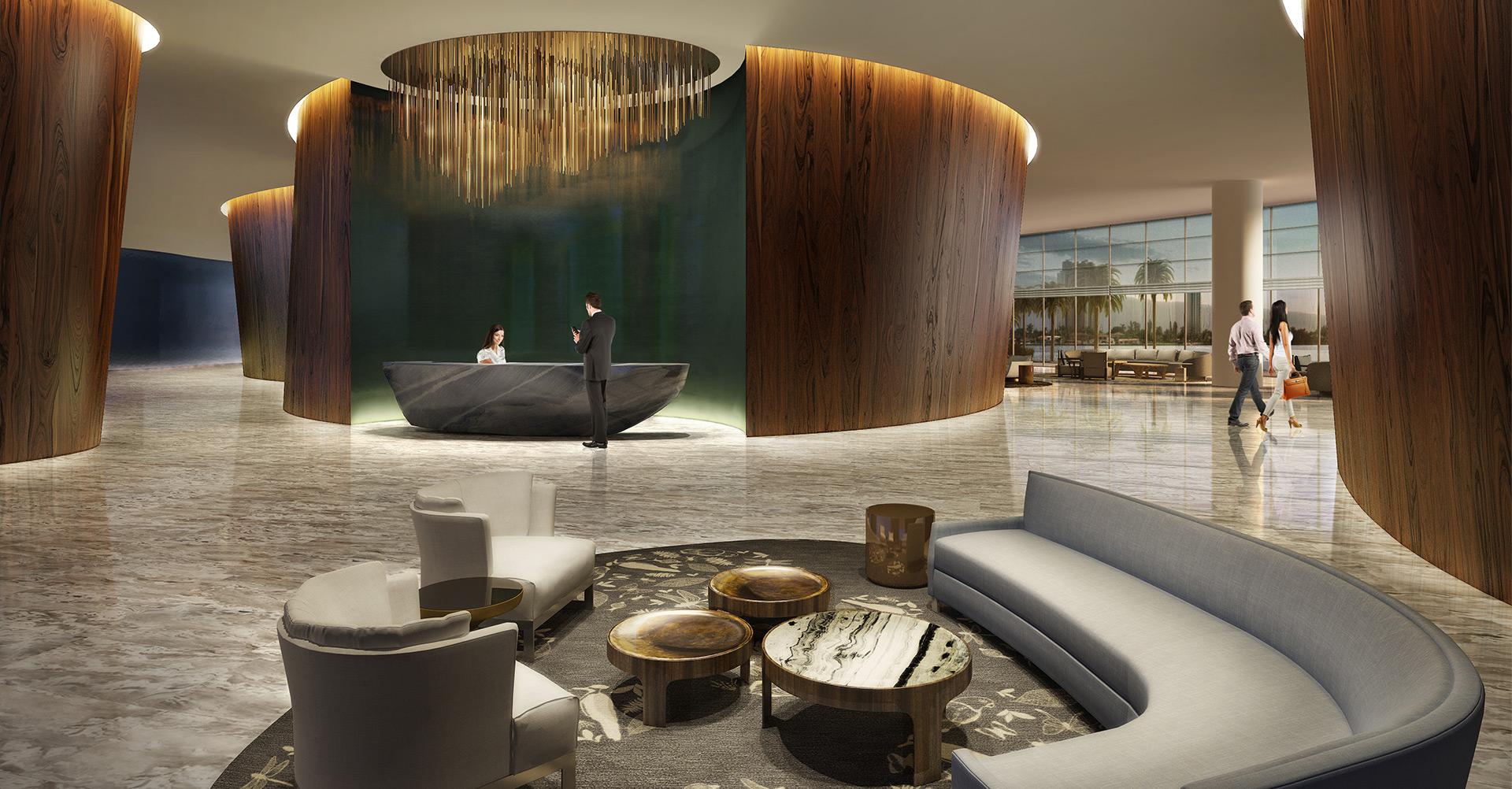 Echo Aventura luxury condos lobby New Build Homes