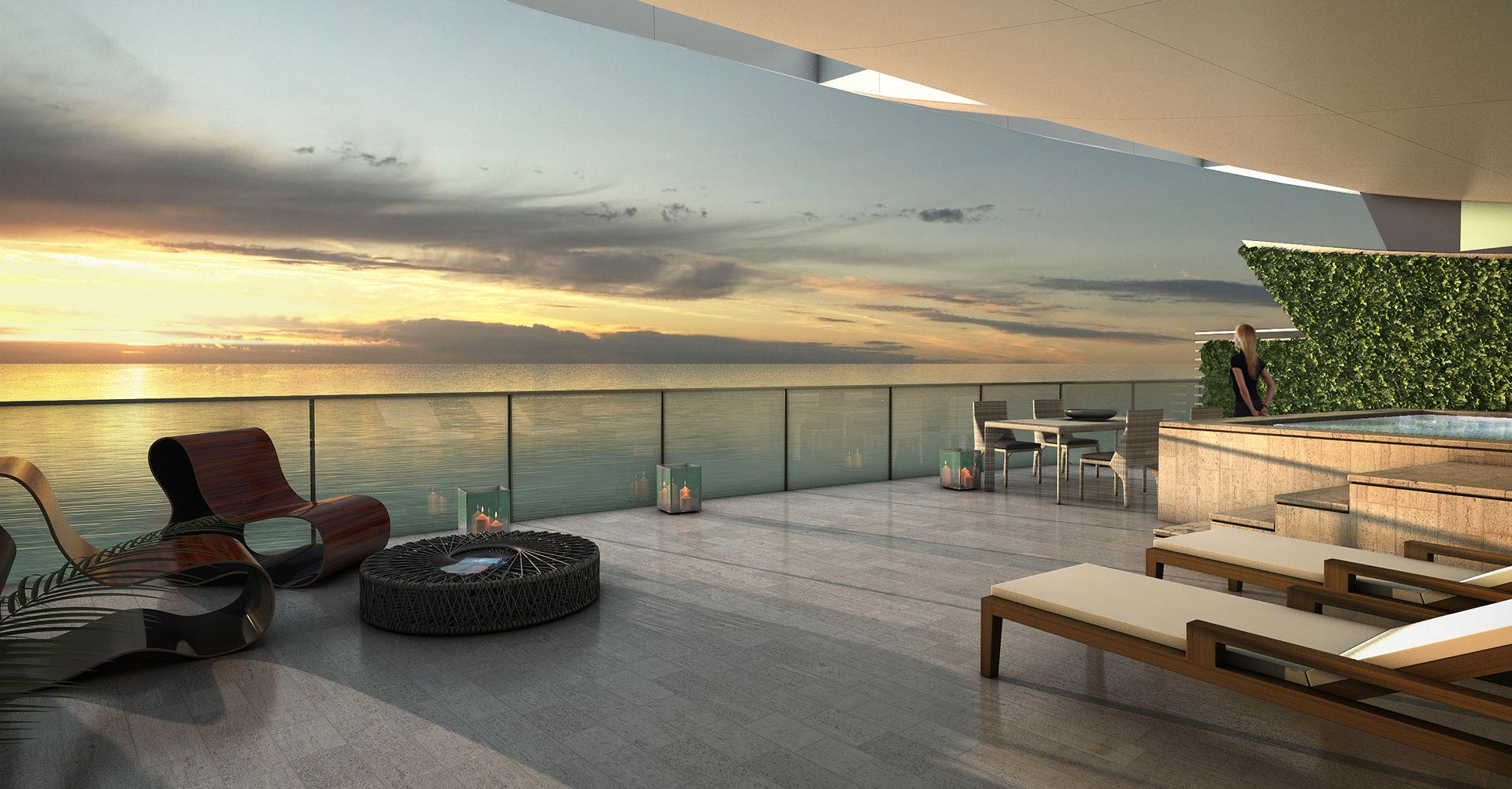 Echo Aventura luxury condos oceanfront terrace New Build