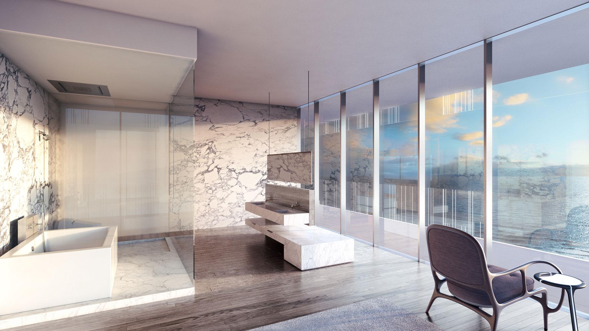 Glass Luxury Condos Bathroom New Build Homesnew Build Homes