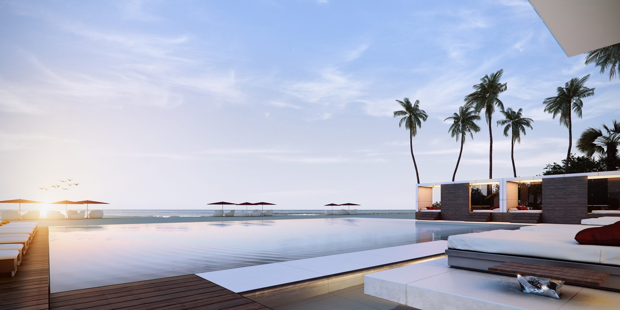 Muse Luxury Condos Infinity Pool Clubhouse New Build Homes