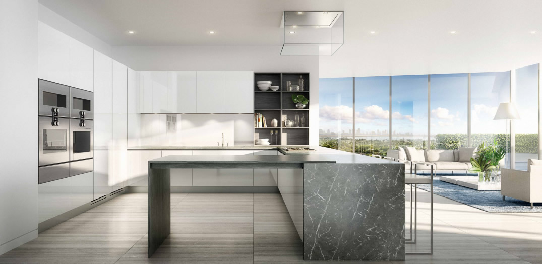 Ritz Carlton Luxury Condos Miami Beach Kitchen New Build
