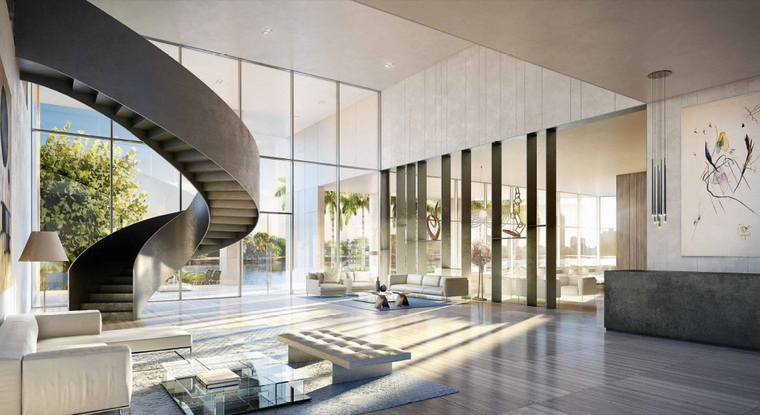 Ritz Carlton Luxury Condos Miami Beach Lobby New Build